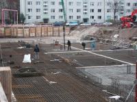 """29.11.2013 - Bewehrung der Bodenplatte Bauteil """"C"""""""