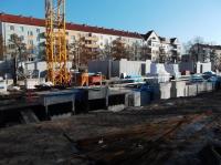 """04.02.2014 - Kran und Wände Keller und 1.OG Bauteil """"D"""" und """"C"""""""