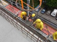 "28.05.2014 - Betonage der Brüstung im 5.OG Bauteil ""C"""