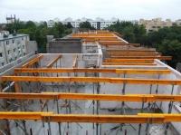 """28.05.2014 - Vorbereitung zur Deckenverlegung im Bauteil """"B"""" über 5.OG"""