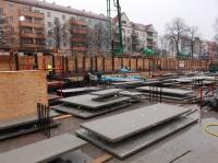 06.12.2013 - Abgelegte Hohlwände für die Tiefgarage