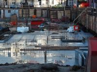 """07.01.2014 - Betonierte Betonplatte Bauteil """"B"""" Tief"""