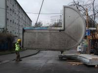 """19.03.2014 - Lieferung der Eckbalkone vom 2. OG im Bauteil """"A"""""""