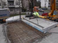 "19.03.2014 - Montage der Eckbalkone vom 2. OG im Bauteil ""A"""