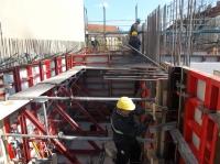 27.03.2014 - Betonnage am Nachbargiebel Heidekampweg 49