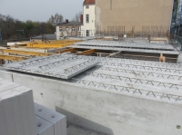 "01.04.2014 - Filigranplatten Decke über 2.OG Bauteil ""D"""